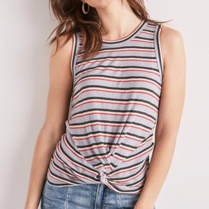 Lucky Brand Twist Front Rib Tank Top Size Large